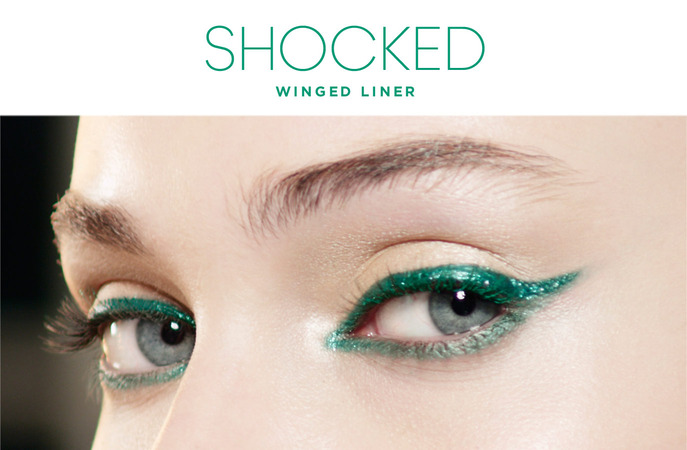 MAKING FACES: SEPHORA + PANTONE SHOCKED WINGED LINER