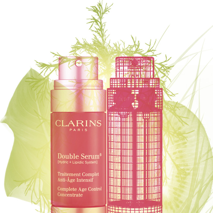 X-RAY: CLARINS DOUBLE SERUM COMPLETE AGE CONTROL CONCENTRATE