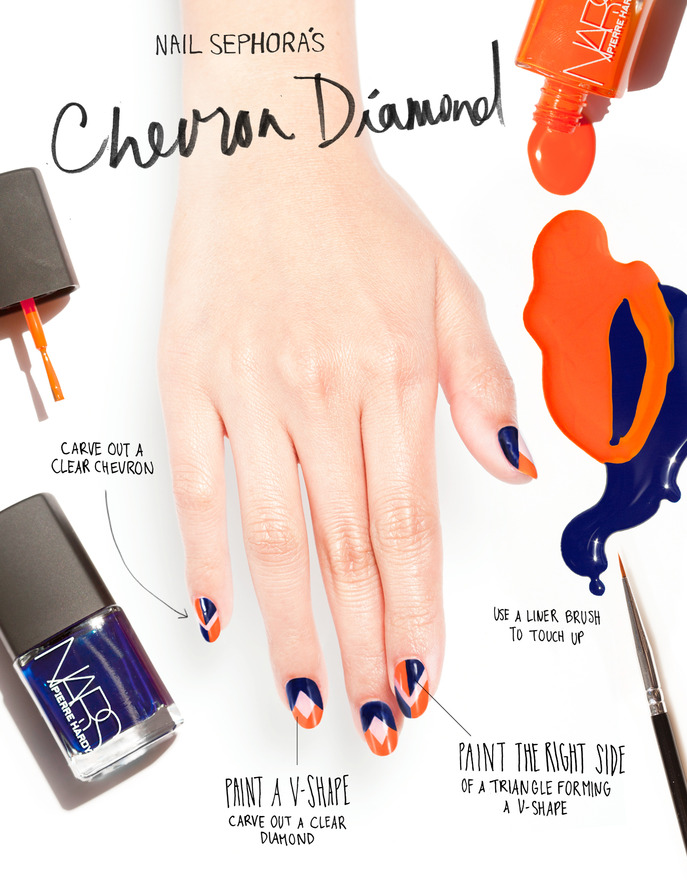 THE TIP-OFF: CHEVRON DIAMOND NAILS WITH PIERRE HARDY FOR NARS