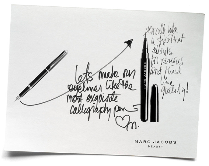 SPOT IT: MARC JACOBS'S ORIGINAL PRODUCT SKETCH FOR MARC JACOBS BEAUTY MAGIC MARC'ER
