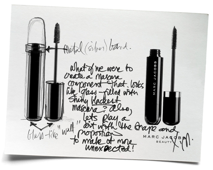 SPOT IT: MARC JACOBS'S ORIGINAL PRODUCT SKETCH FOR MARC JACOBS BEAUTY LASH LIFTER MASCARA
