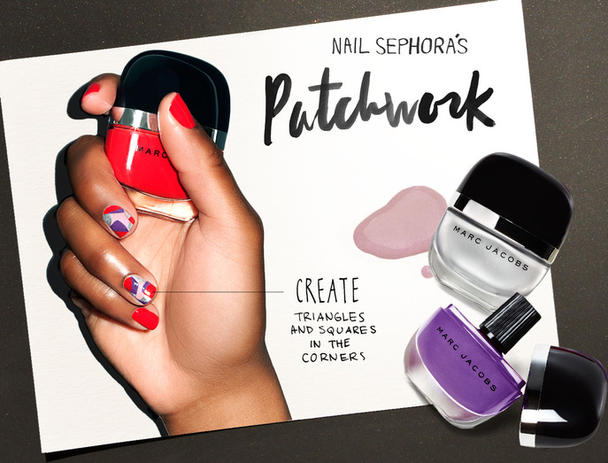 NAIL SEPHORA'S PATCHWORK NAIL LOOK WITH MARC JACOBS BEAUTY