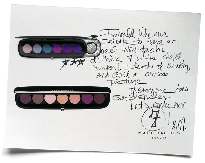 SPOT IT: MARC JACOBS'S ORIGINAL NOTE ON THE STYLE EYE-CON NO. 7 PALETTE