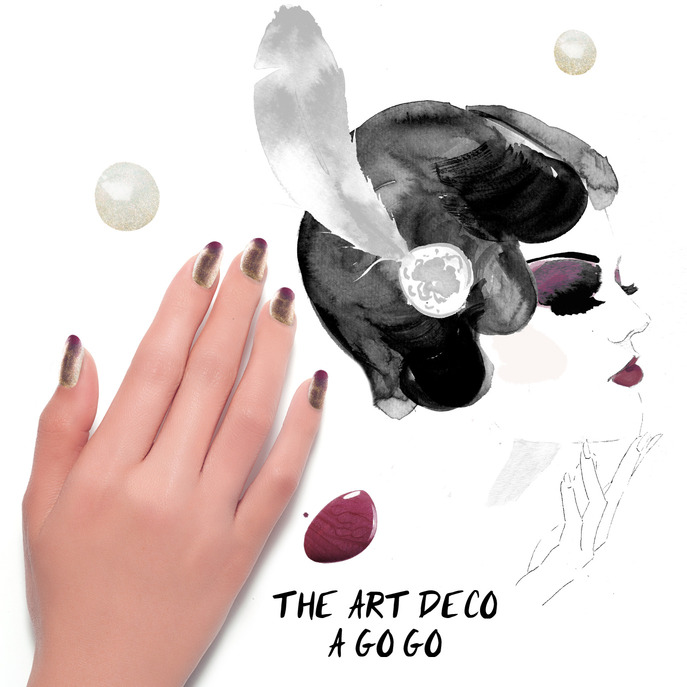 THE TIP-OFF: THE ART DECO A GO GO MANICURE WITH FORMULA X NAIL LACQUER