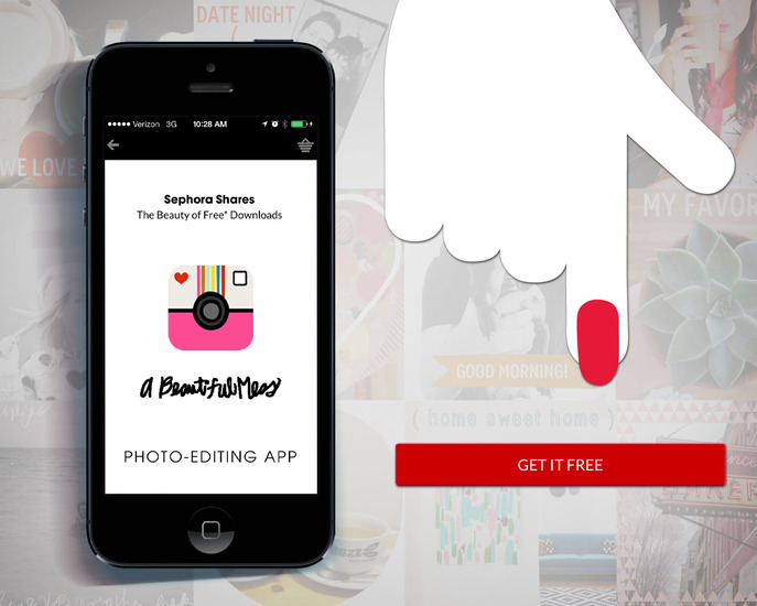 FRONT/CENTER: SEPHORA SHARES: A BEAUTIFUL MESS APP