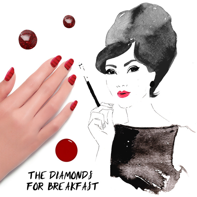 THE TIP-OFF: THE DIAMONDS FOR BREAKFAST MANICURE WITH FORMULA X NAIL LACQUER