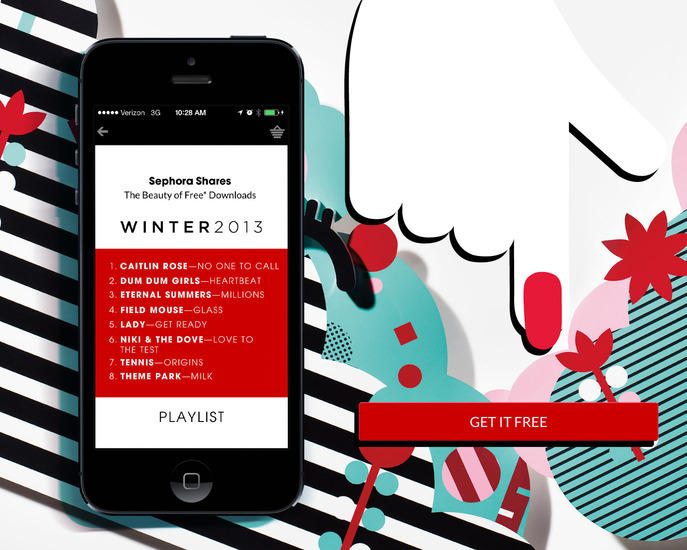 FRONT/CENTER: SEPHORA SHARES: WINTER 2013 PLAYLIST