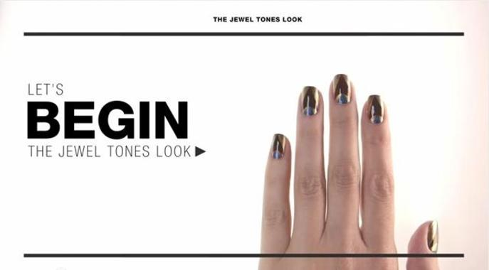 Tutorial: Jewel Tones Nail