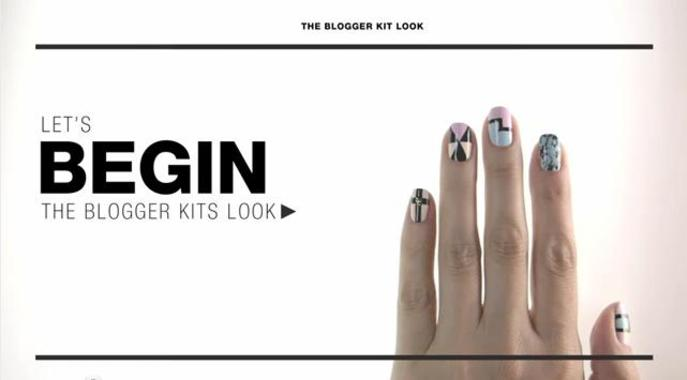 Tutorial: Blogger Kit Nail Look