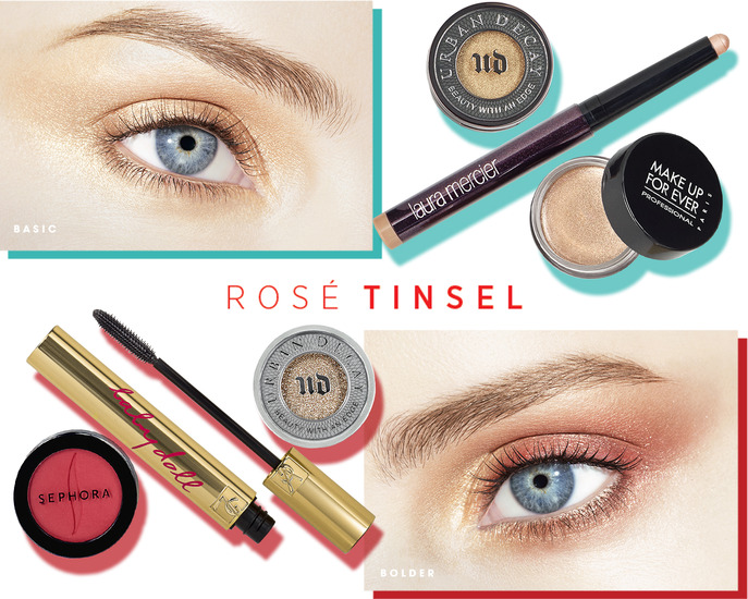 MAKING FACES: ROSÉ TINSEL EYE