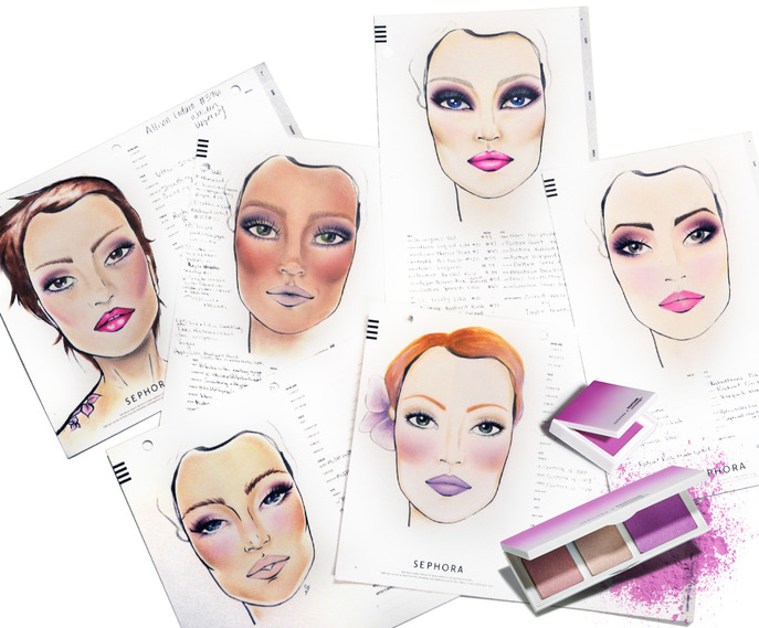 IN VAIN: SEPHORA + PANTONE UNIVERSE COLOR OF THE YEAR FACE CHART CHALLENGE WINNERS