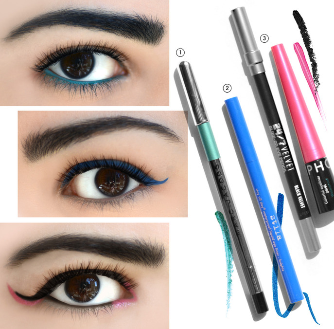 THE TIP-OFF: THREE WAYS TO WEAR COLORED EYELINER