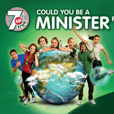 7UP Free / Ministers for the Craic - 48 sheet