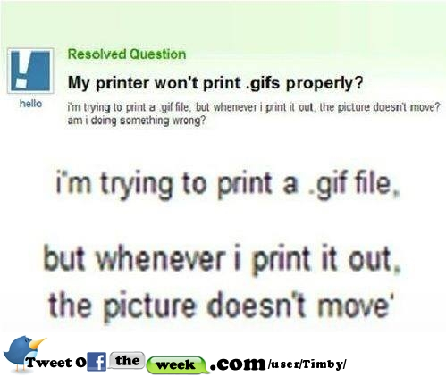 My printer won\'t print gifs properly