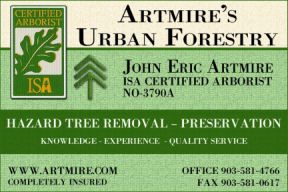 Website for Artmire's Urban Forestry
