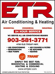 Website for ETR Air Conditioning & Heating