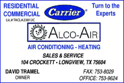 Website for Alco-Air, Inc.