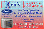 Website for Ken's Comfort Zone Air Conditioning