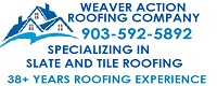 Website for Weaver Action Roofing Company, Inc.
