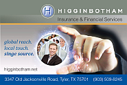 Website for Higginbotham Insurance & Financial Services