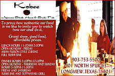 Website for Kobee Japanese Steakhouse and Sushi Pub