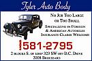 Website for Tyler Auto Body, Inc.