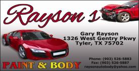 Website for Rayson's  Auto & Body
