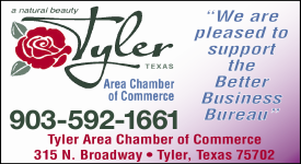 Website for Tyler Area Chamber of Commerce