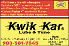Website for Kwik Kar Lube & Tune on South Broadway