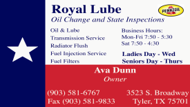 Website for Royal Lube