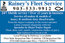 Website for Rainey's Fleet Service