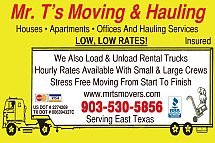Website for Mr. T's Moving & Hauling