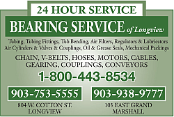 Website for Bearing Service of Longview Inc
