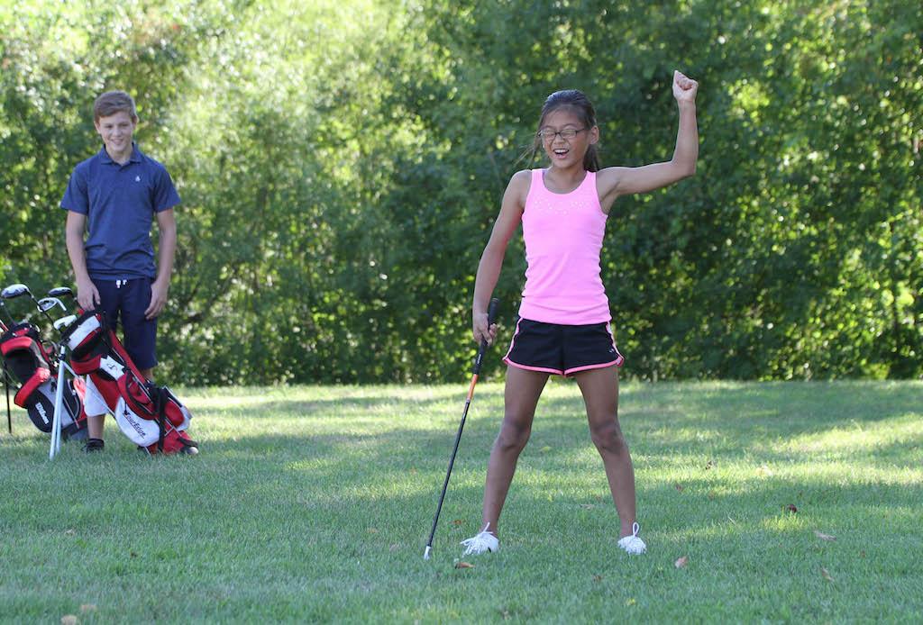 Girl-golf