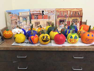 Latin Club Pumpkin Painting
