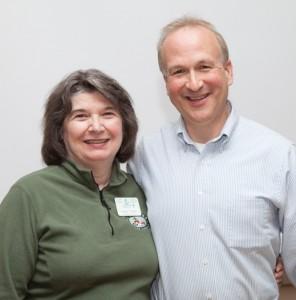 L:  Master Gardener of the Year, Susan Foster R:  Master Gardener Career Service Award Recipient, Rob Medicus