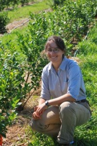 UD Extension Researcher Emmalea Ernest in the middle of a multi-year study on blueberries for Delaware