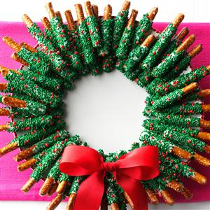 pretzel-wreath