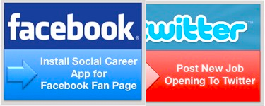post jobs to facebook and twitter