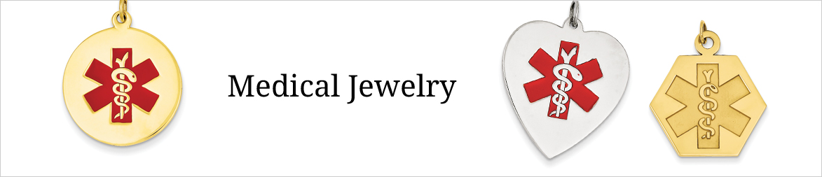 Medical Alert Gold and Silver Jewelry