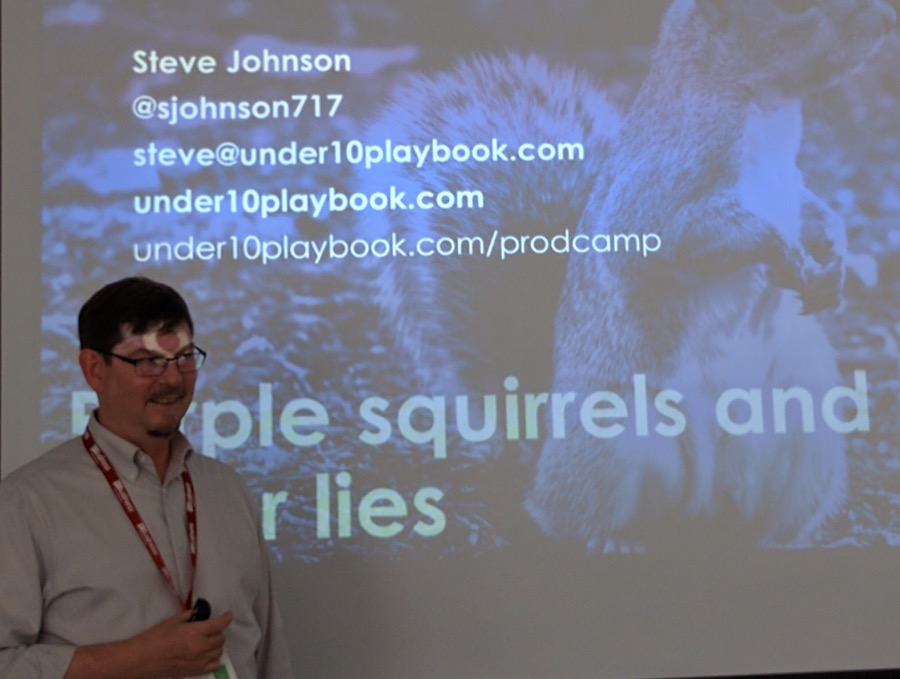 Speaking at product camp