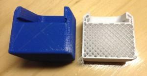 Densidad al 15% en el objeto impreso 3D.