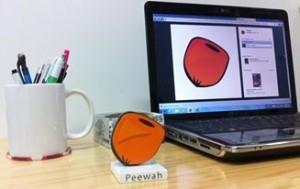 Logo Peewah impreso en 3D
