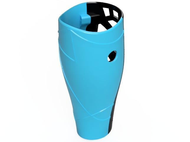 Prediseño carcasas protesis de pierna impresión 3D