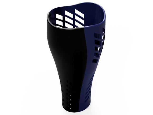 Cubierta transtibial o transfemoral protesis de pierna con impresión 3D