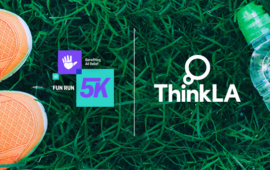 Think LA Fun Run 5k | Branding & Social Graphics