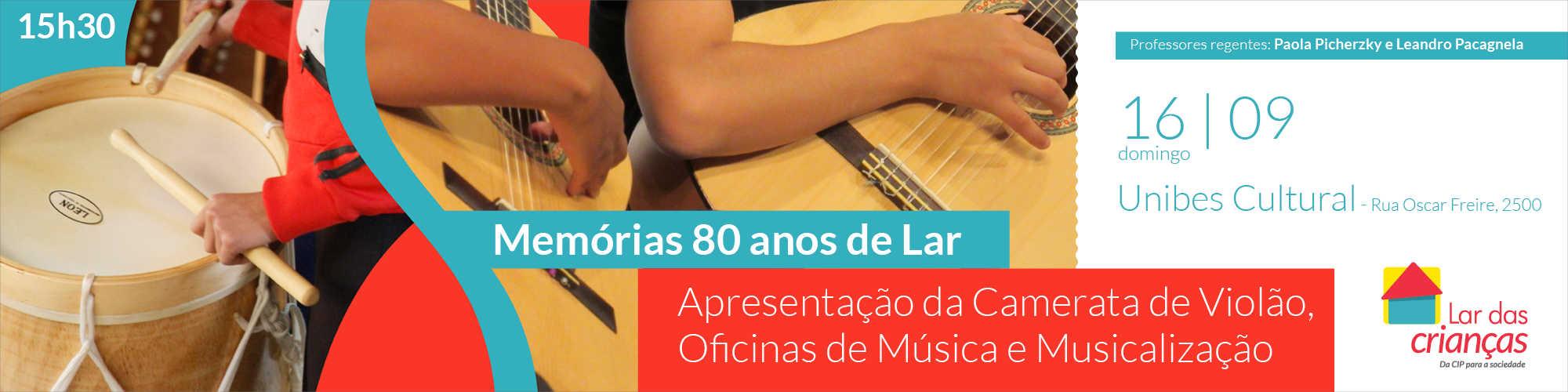 Apresentações musicais gratuitas comemoram 80 anos do Lar das Crianças da CIP