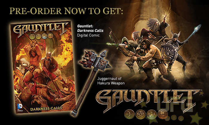 wb reveals gauntlet comic book united front gaming