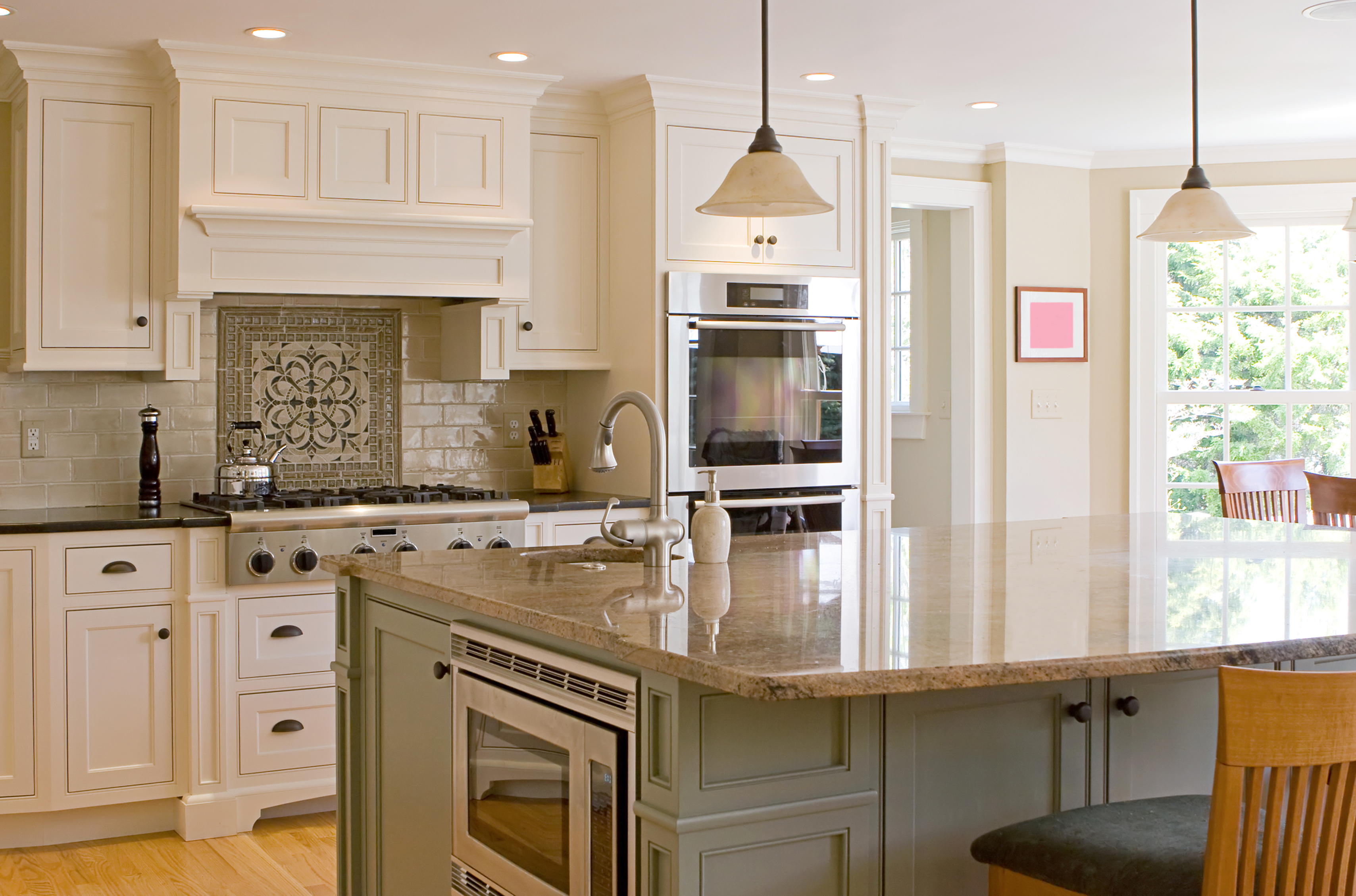 Kitchen Island Different Than Cabinets -
