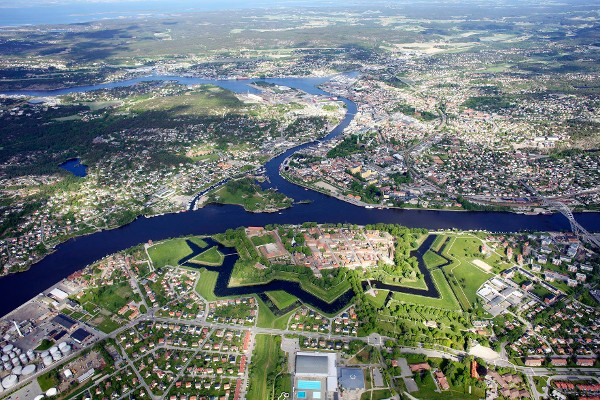 Aerial view of Fredrikstad, Norway. Photo from: http://fredrikstad.soroptimistnorway.no/